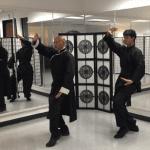 Arnold and Kai Tayam performing Cosmic Tour Bagua movements